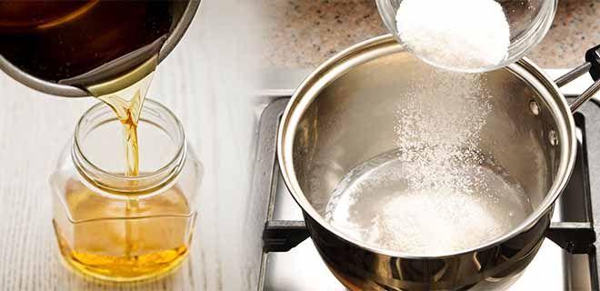 Приготовление сахарного сиропа
