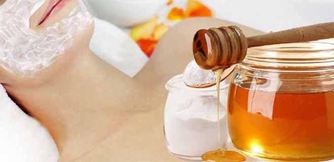 Мёд и сода для лица