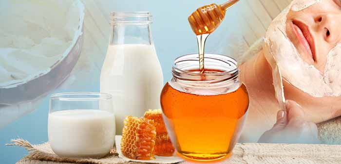 Маска мёд с молоком