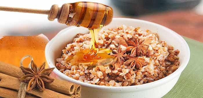 Гречневая каша с медом и корицей
