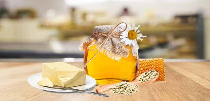 Сливочное масло, мед и семена тыквы