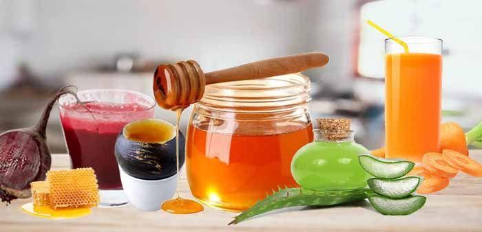 Выдержка из листьев алоэ, сок свеклы, моркови, редьки, мед и водка
