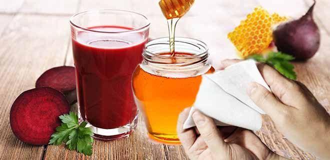 Примочка с медом и свекольным соком