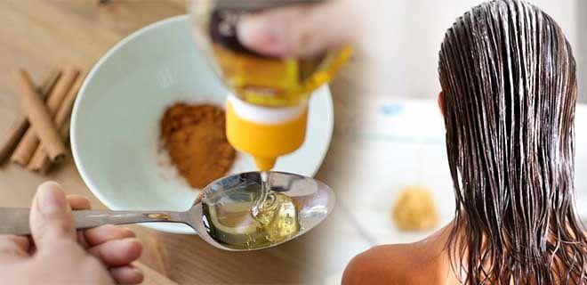 Маска для волос с мёдом и корицей