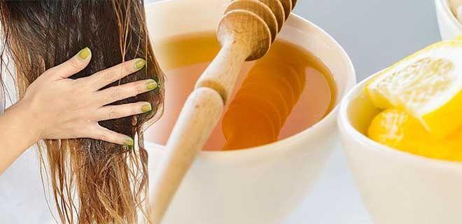 Маска для волос с мёдом и лимоном