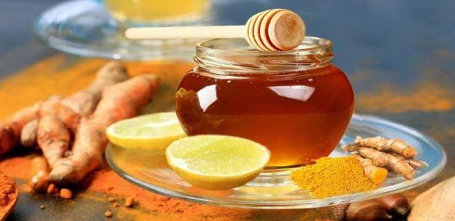 Куркума, мед, лимон