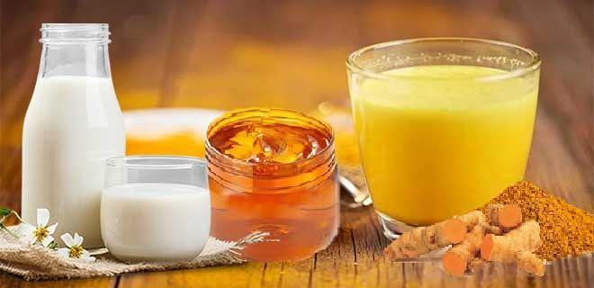 Куркума с молоком и медом