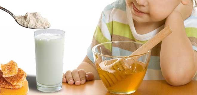 Молоко с медом и содой детям