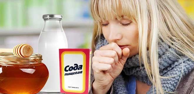Молоко с содой и медом от кашля