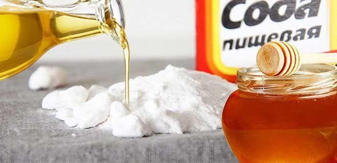 Сода мед и масло