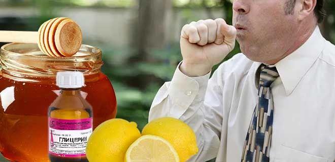 Лимон, мед и глицерин при кашле