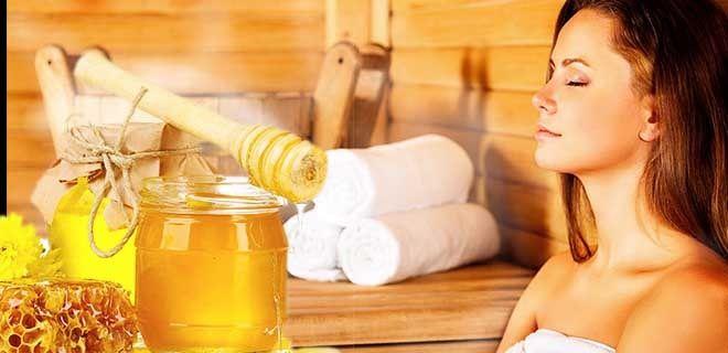Мед в бане