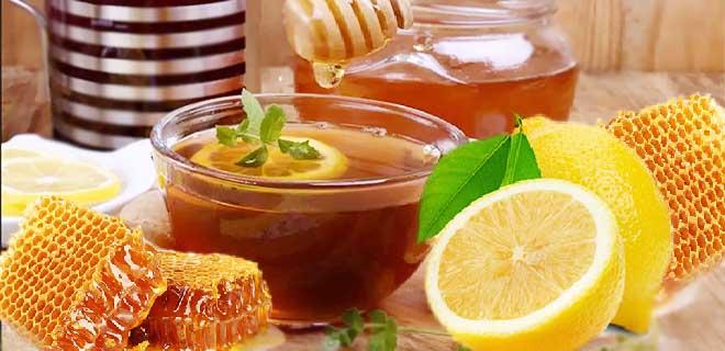 Черный чай с лимоном и медом