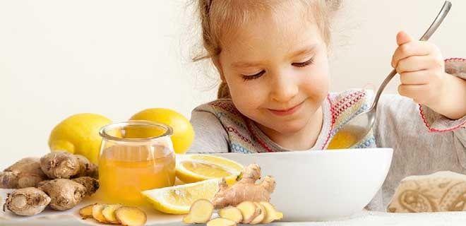 Имбирь с лимоном и медом для детей
