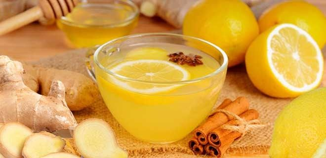 Коктейль имбирь, лимон и мед с корицей