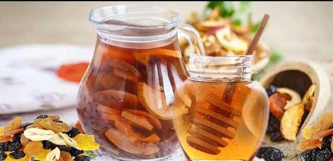 Компот из сухофруктов с медом