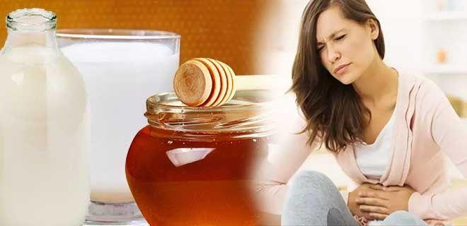 Молоко с медом при проблемах с желудком
