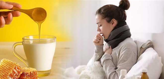 Молоко с медом от влажного кашля