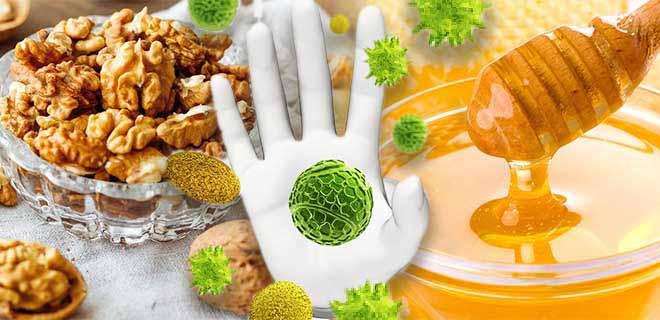 Грецкий орех с медом для повышения иммунитета