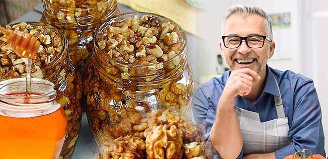 Мед с грецкими орехами для мужчин