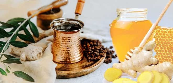 Кофе, мед и имбирь