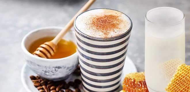 Кофе с медом и молоком