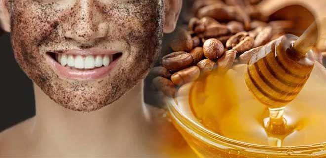 Мед и кофе для лица
