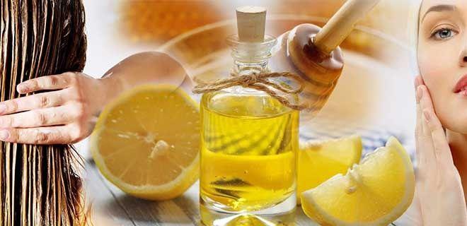 Мед, лимон, оливковое масло для красоты кожи и волос