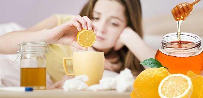 Мед и лимон от простуды