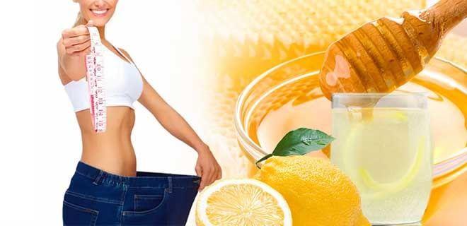 Вода с лимоном и медом для похудения
