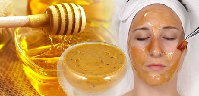 Маска с медом и пыльцой